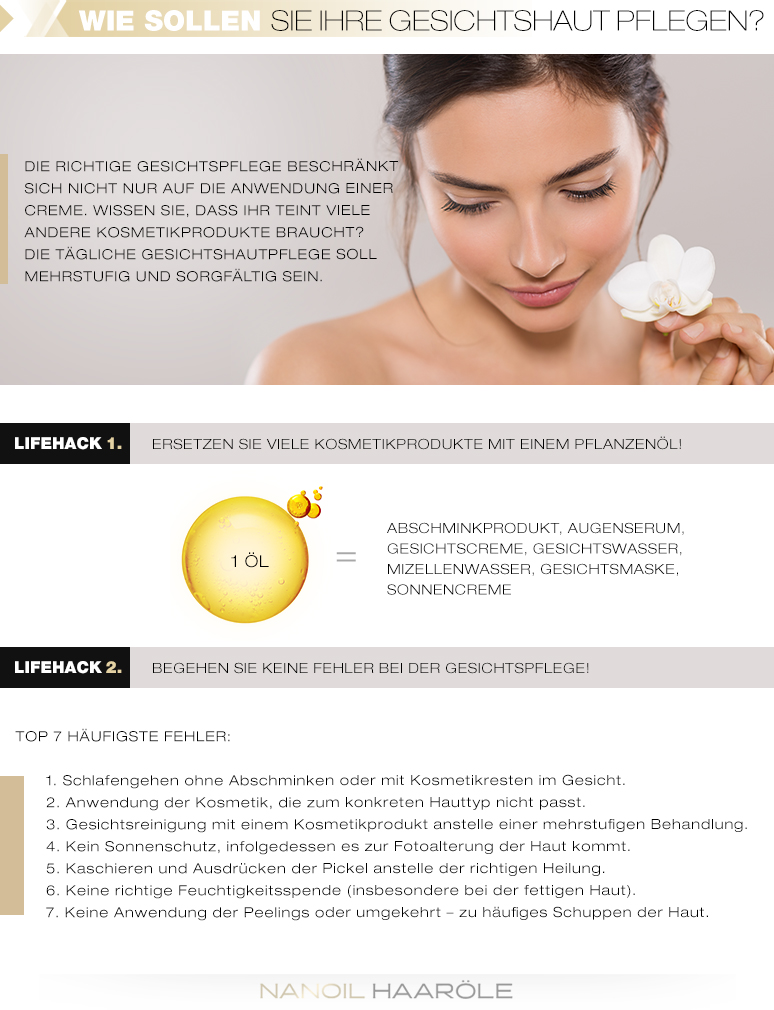 Regeln der Gesichtspflege